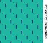 isometric buildings seamless... | Shutterstock .eps vector #627855968