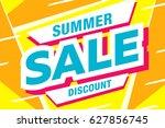 summer sale template banner in...   Shutterstock .eps vector #627856745