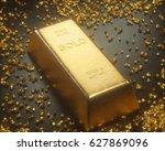 3d illustration. gold bar 1000... | Shutterstock . vector #627869096