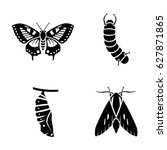 insects vector icons   Shutterstock .eps vector #627871865
