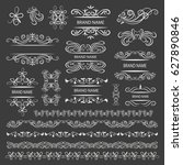 set of vector graphic elements... | Shutterstock .eps vector #627890846
