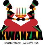 kwanzaa celebration | Shutterstock .eps vector #627891755