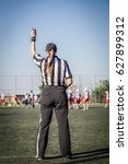 female american football... | Shutterstock . vector #627899312