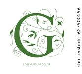 g letter floral design....