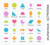 huge set of vector shapes... | Shutterstock .eps vector #627905066