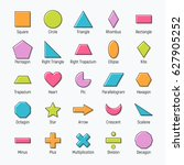 huge set of vector shapes... | Shutterstock .eps vector #627905252