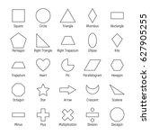 huge set of vector shapes...   Shutterstock .eps vector #627905255