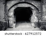old castle entrance. ruined... | Shutterstock . vector #627912572