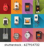 central heating | Shutterstock .eps vector #627914732