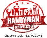 handyman services red  vector... | Shutterstock .eps vector #627922076