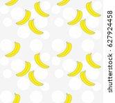 banana seamless pattern | Shutterstock .eps vector #627924458