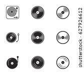 icons for theme vinyl. white... | Shutterstock .eps vector #627926612