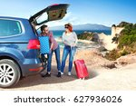 summer car trip and landscape... | Shutterstock . vector #627936026