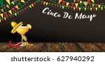 cinco de mayo banner design for ... | Shutterstock . vector #627940292