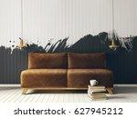 modern interior room with nice... | Shutterstock . vector #627945212