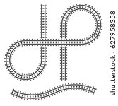 railway tracks construction... | Shutterstock .eps vector #627958358