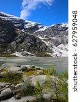 jostedalsbreen national park... | Shutterstock . vector #627959048