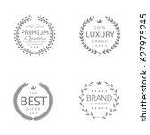 laurel wreath icons. premium... | Shutterstock .eps vector #627975245