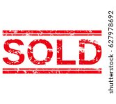 "grunge stamp ""sold"". | Shutterstock .eps vector #627978692"