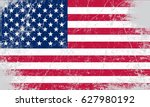 grunge flag of usa.vector... | Shutterstock .eps vector #627980192