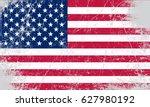 grunge flag of usa.vector... | Shutterstock .eps vector #627980192