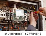 repair of old electrical... | Shutterstock . vector #627984848