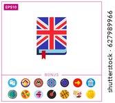 english book icon | Shutterstock .eps vector #627989966