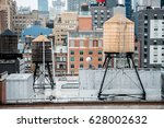 Old Vintage Water Tanks On The...