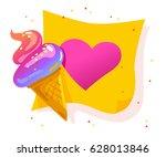 vector flat cartoon banner with ... | Shutterstock .eps vector #628013846