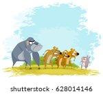 vector illustration of a five...   Shutterstock .eps vector #628014146