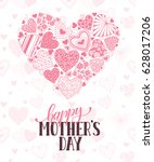 happy mothers day greeting card.... | Shutterstock .eps vector #628017206