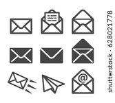 envelope mail icon | Shutterstock .eps vector #628021778