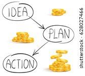 plan to do business  idea ... | Shutterstock .eps vector #628027466