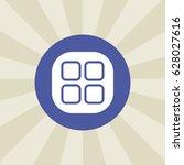 squared icon. sign design.... | Shutterstock . vector #628027616