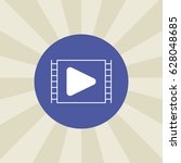 play button icon. sign design....   Shutterstock . vector #628048685