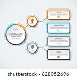 infographic template with 2... | Shutterstock .eps vector #628052696