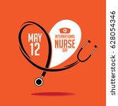 international nurse day icon... | Shutterstock . vector #628054346