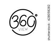 360  angle pamoramic view logo  ... | Shutterstock .eps vector #628058282