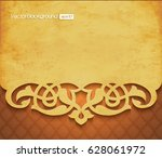 3d floral grunge banner on... | Shutterstock .eps vector #628061972