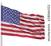 united states flag on flagpole  ... | Shutterstock . vector #628066322