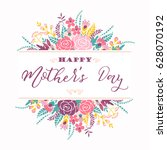happy mothers day lettering... | Shutterstock .eps vector #628070192