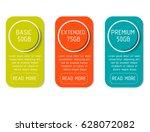 three banner for the tariffs... | Shutterstock .eps vector #628072082