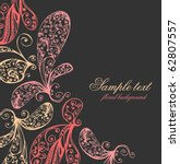 hand drawn floral | Shutterstock .eps vector #62807557