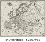vector historical map of europe ... | Shutterstock .eps vector #62807983