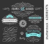 vintage frames and design... | Shutterstock .eps vector #628081976