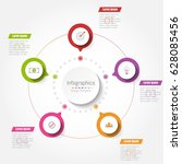 abstract infographics business... | Shutterstock .eps vector #628085456