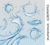 set vector illustrations water... | Shutterstock .eps vector #628090952