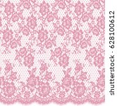 seamless vector pink lace... | Shutterstock .eps vector #628100612