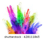 explosion of colored powder ...   Shutterstock . vector #628111865