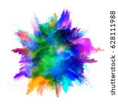 explosion of colored powder ... | Shutterstock . vector #628111988